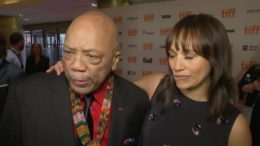 "Legendary music producer Quincy Jones walks the Toronto International Film Festival red carpet for ""Quincy,"" a documentary about his life, directed by his daughter Rashida. (Sept. 10)"