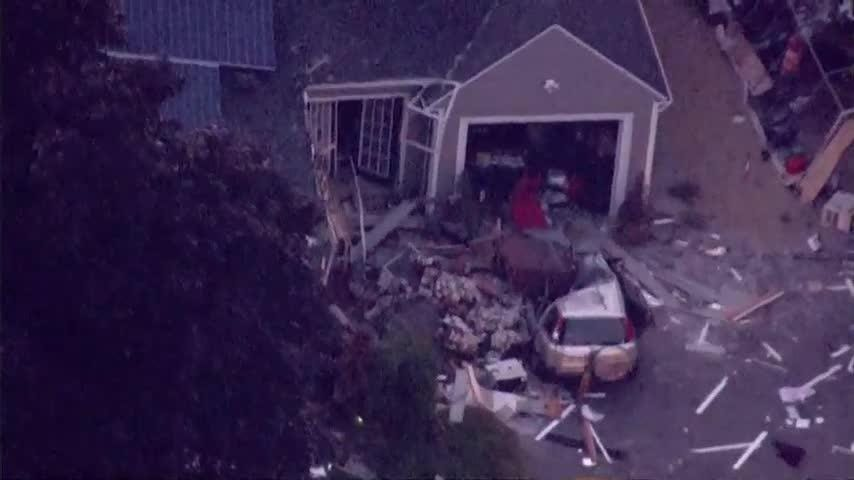 Mass  explosion topples chimney, kills teen