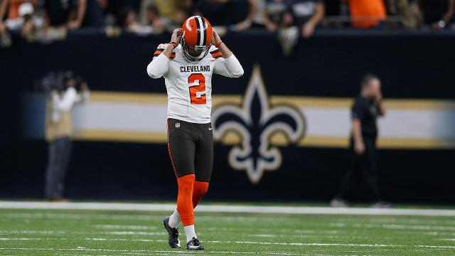 The Cleveland Browns extended their winless streak to 19 games after missing extra point and a game winning field goal against New Orleans.
