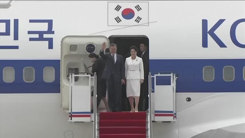 6141697f8bbf S.Korea s Moon Jae-in in North Korea for summit