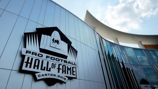 Some members of the Pro Football Hall of Fame say they will not attend the yearly induction ceremony until they receive health insurance and an annual salary that includes a share of the league's revenue.