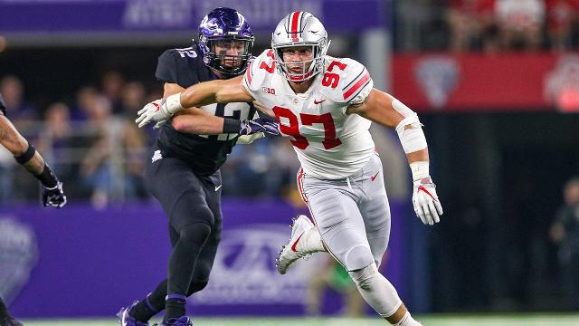 "Ohio State head coach Urban Meyer announced defensive end Nick Bosa underwent surgery for a ""core muscle injury,"" Cleveland.com's Bill Landis reports."