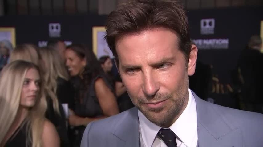 """At the Los Angeles premiere of his directorial debut, """"A Star Is Born,"""" Bradley Cooper reveals why he thinks the remake stands apart from its predecessors and how he's learned the job from observing others. (Sept. 25)"""