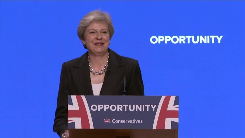 Theresa May shows off her Abba dance moves