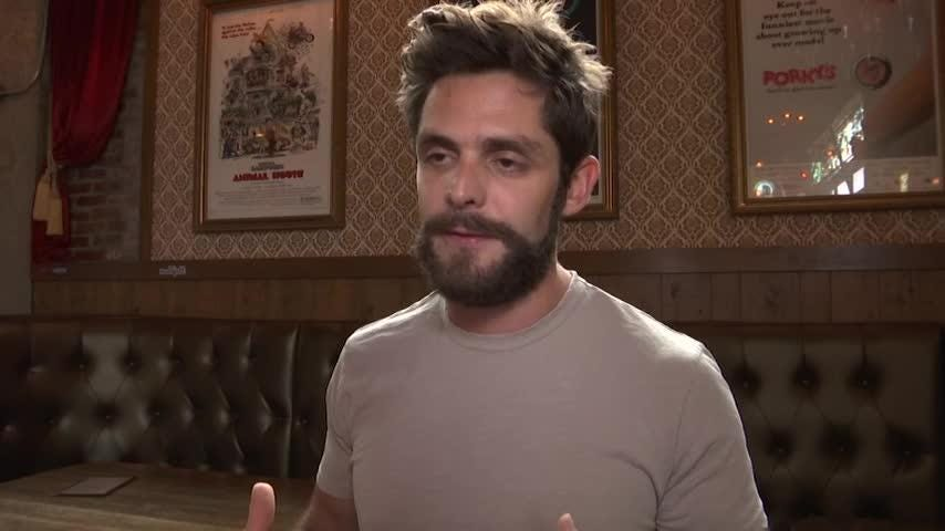 "Country singer Thomas Rhett is nominated for three CMA nominations this year, including album of the year and music video of the year, which he calls a ""special honor."" (Oct. 3)"