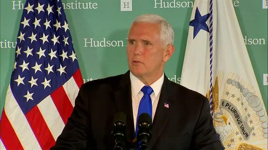 VP Mike Pence says 'China wants a different American president,' accuses Chinese government of meddling in U.S. elections