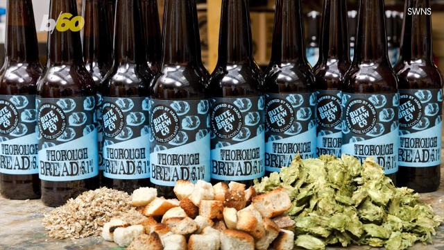 So toasted! This beer is made from would-be food waste