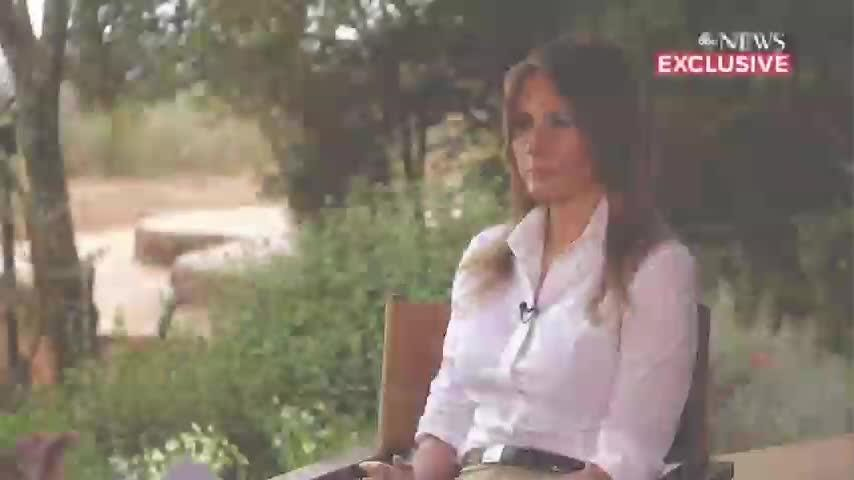 """First lady Melania Trump says she could be """"the most bullied person"""" in the world, judging by """"what people are saying about me."""" (Oct. 11)"""