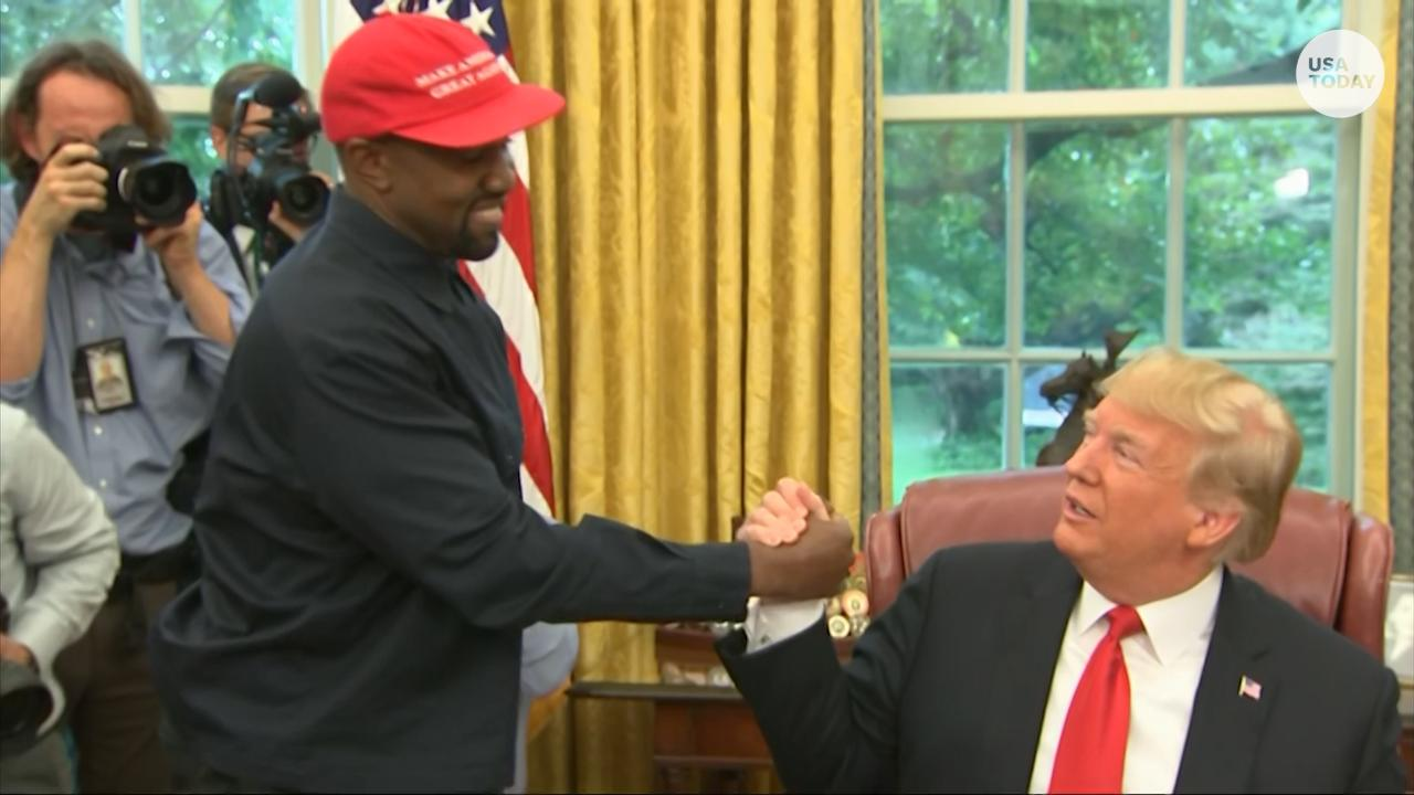 Kanye West gives a 10-minute monologue in the White House Oval Office during his visit with President Donald Trump and NFL legend Jim Brown.