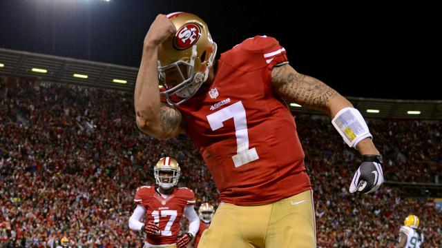 The 49ers released a photo gallery on Friday highlighting the franchise's greatest moments against the Packers, but the gallery originally withheld pictures of Colin Kaepernick.