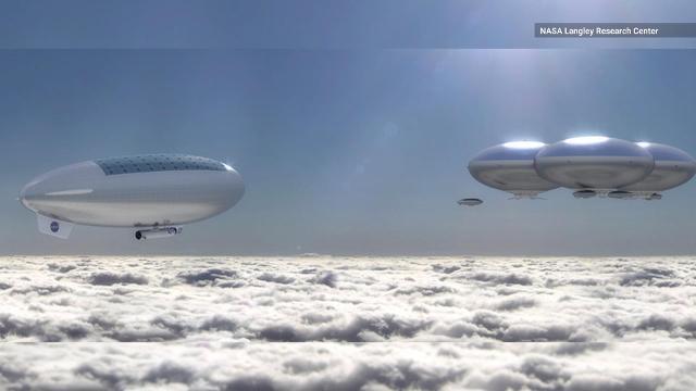 NASA's working on a plan to send astronauts in an airship above Venus' clouds for 30 days, which could lead to a permanent human settlement there.