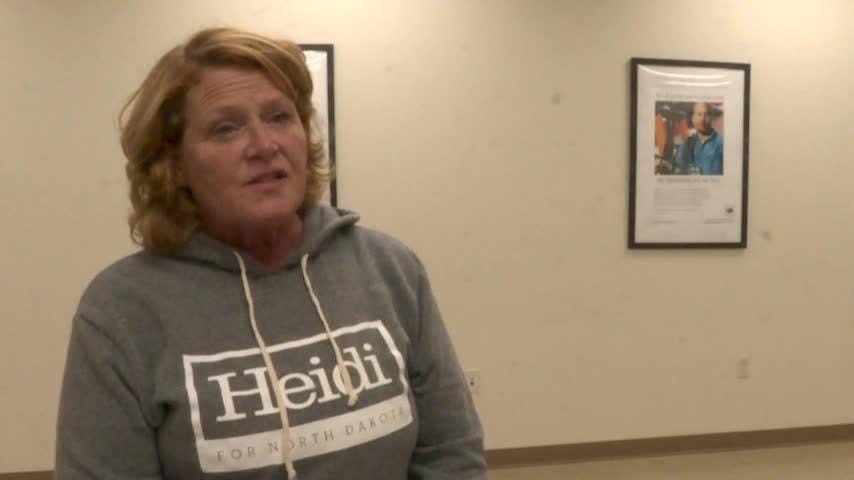 Sen. Heidi Heitkamp says a staff member who helped gather names for a newspaper ad that identified some victims of sexual abuse without their permission is no longer with her campaign. (Oct. 17)