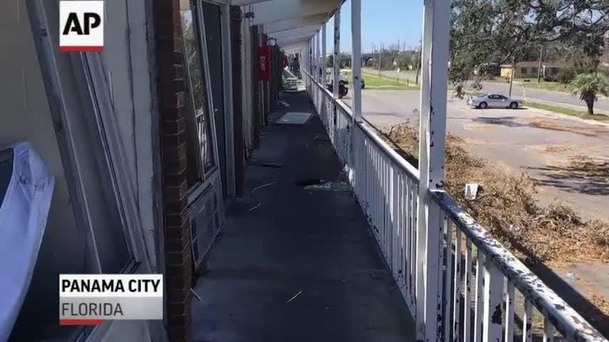 A rough life is getting even rougher for dozens of people living at a Florida motel ripped apart by Hurricane Michael. (Oct. 17)
