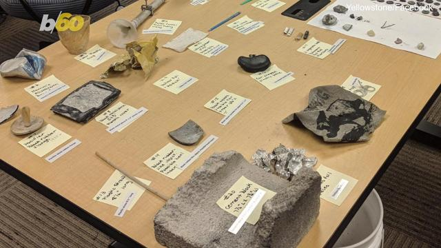 Yellowstone National Park's least active geyser became very active on September 15th and spat out, among other things, a cement block, coins, cans and a baby pacifier from the 1930s. Buzz60's Maria Mercedes Galuppo has more.