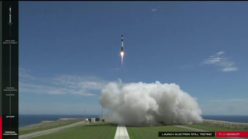Rocket Lab, a California-based startup, says it will launch small satellites into orbit from NASA's Wallops Flight Facility in Virginia. (Oct. 18)