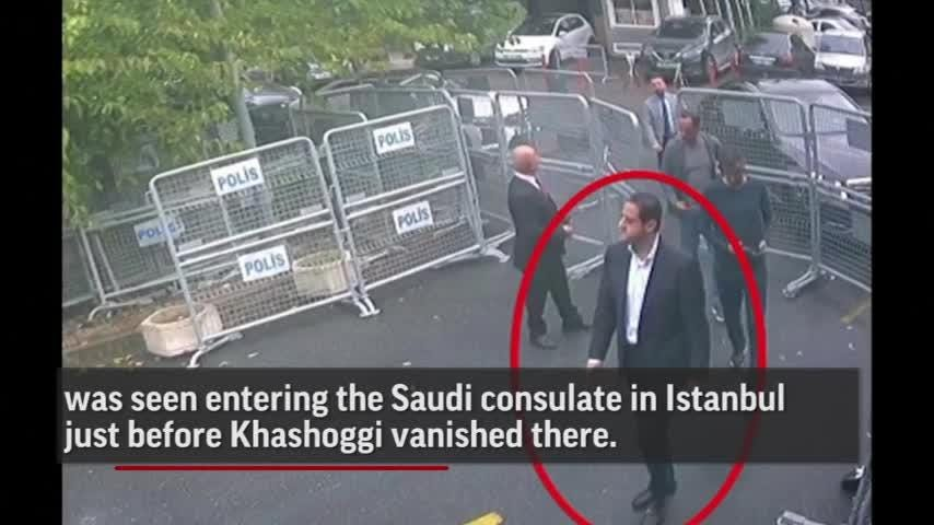 A man who traveled with the Saudi Crown Prince's entourage to the US was seen entering the Saudi Consulate in Istanbul just before Jamal Khashoggi vanished there. Meanwhile, Turkish crime-scene investigators continued searching for answers. (Oct. 18)