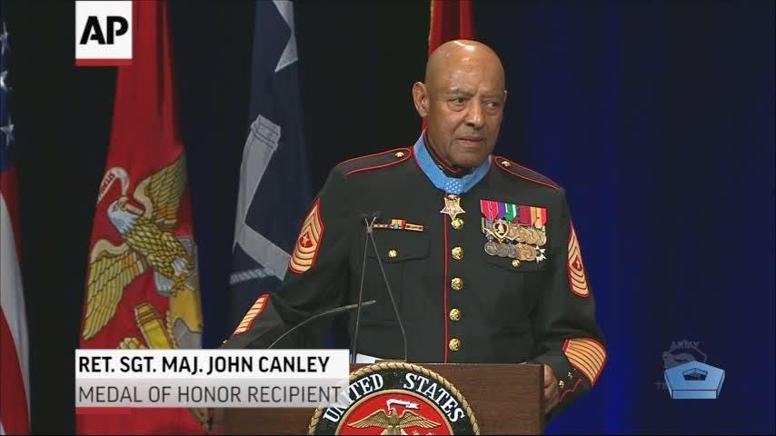 A Vietnam-era Marine awarded the Medal of Honor has also been inducted into the Pentagon's Hall of Heroes (Oct 18)