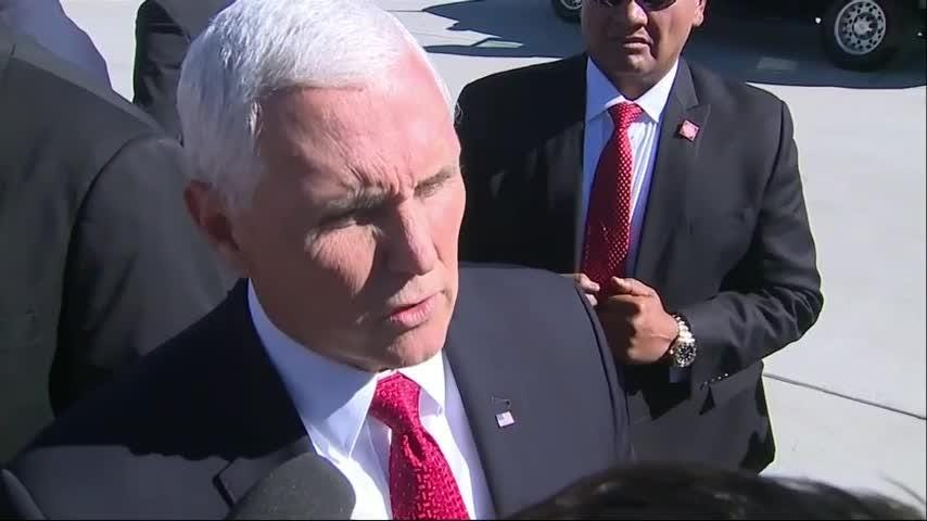Vice President Mike Pence echoed President Trump and Secretary of State Mike Pompeo in remarks about Saudi Arabia and missing journalist Jamal Khashoggi during a trip to Colorado. (Oct. 18)