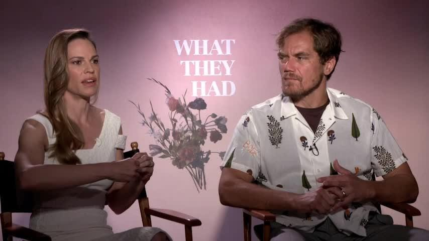 Hilary Swank and Michael Shannon say their family drama 'What They Had' will resonate with anyone affected by Alzheimer's.  (Oct. 19)