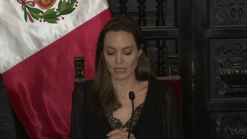 fa9cbdede2a45 Angelina Jolie advocates for 'shocking' Venezuelan refugee crisis