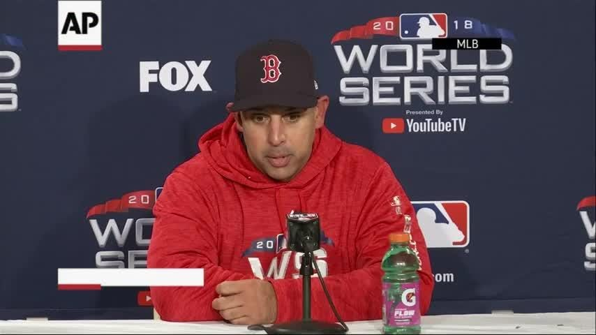 The Boston Red Sox beat the Los Angeles Dodgers 4-2, to take a 2-0 World Series lead. Boston left-hander David Price pitched six innings of three-hit ball. (Oct. 25)