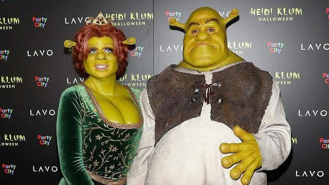 d66e183d4d1 Heidi Klum dresses as Shrek's Fiona for Halloween party