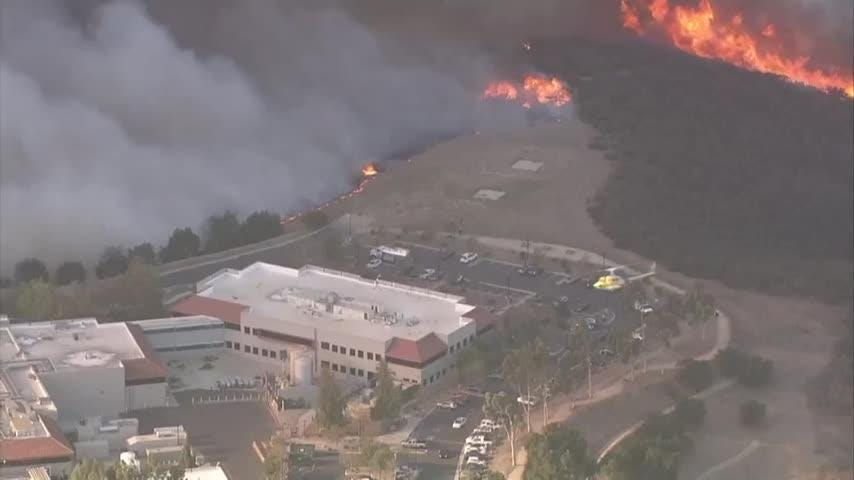 Truth or Not? Brush fire burning in hills west of Los Angeles