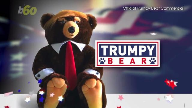 This holiday season you can buy your own toy teddy 'Trumpy Bear'. Buzz60's Mercer Morrison has the story.