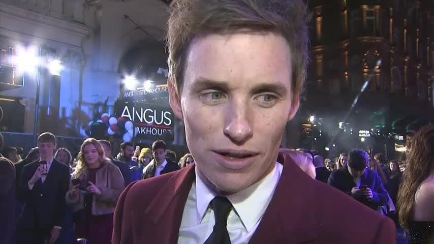 "At the London premiere of ""Fantastic Beasts: The Crimes of Grindelwald,"" star Eddie Redmayne talks about the film, while Jude Law and Ezra Miller take in the passionate Potterverse fans. (Nov. 14)"