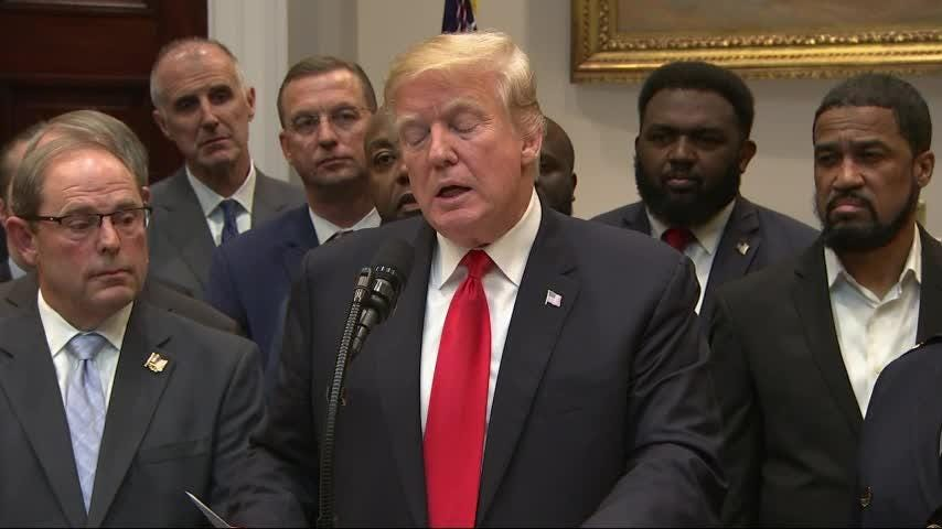President Donald Trump hailed the first major rewrite of the nation's criminal justice sentencing laws in a generation. Lawmakers reached agreement this week on the bipartisan First Step Act, but it still needs to be voted on by Congress. (Nov. 14)