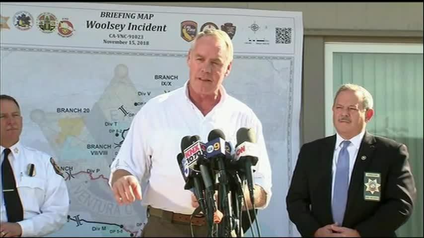 Zinke: California fire 'worst' he's ever seen