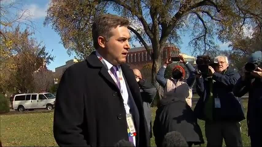 """CNN White House correspondent Jim Acosta says all he wants to do is go back to work covering """"the guy in there,"""" referring to President Donald Trump. Acosta said the court case to get credentials back 'was a test and we passed the test' (Nov. 16)"""