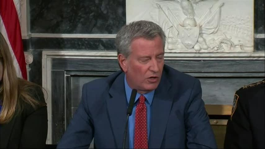 New York City Mayor Bill de Blasio says he understands why people are frustrated that city officials were caught off guard by a snowstorm that caused major problems. De Blasio said the city will do a full audit into what happened. (Nov. 16)