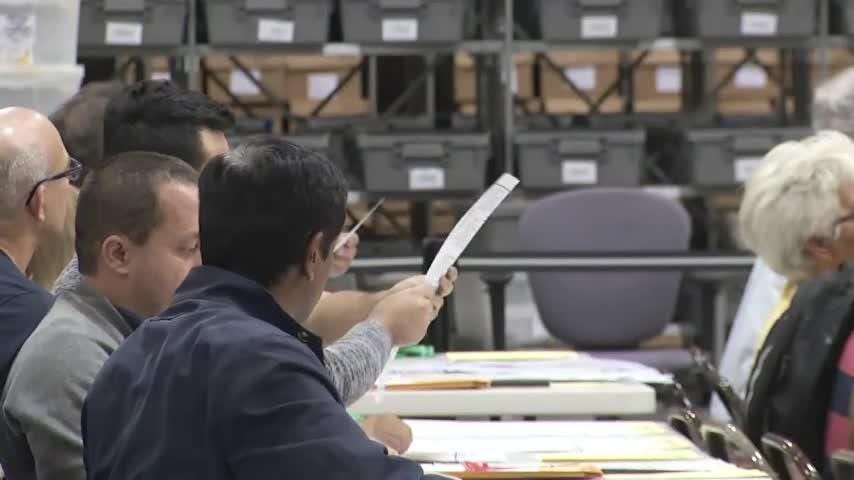 Palm Beach County Election board announced it prioritized the order it would continue its recount focusing on the Senate race first to meet the Sunday deadline. (Nov. 16)