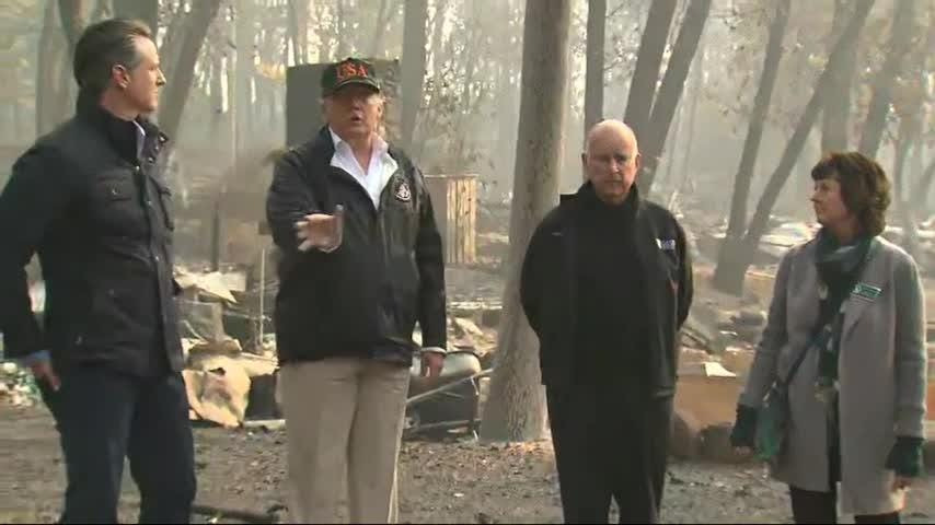 President Donald Trump says he traveled to the heart of California's killer wildfire to fully grasp the scale of the devastation wrought on the landscape (Nov. 17)