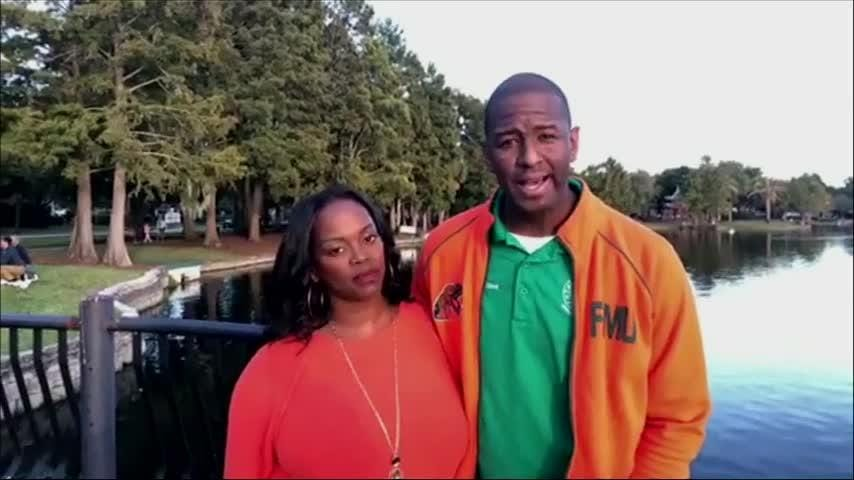 Democrat Andrew Gillum says he is ending his hard-fought race for Florida governor and has congratulated Republican Ron DeSantis (Nov. 17)