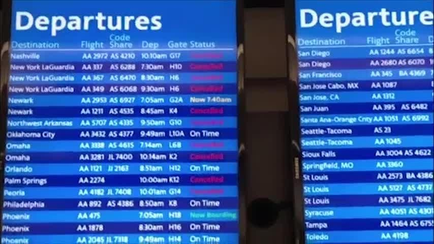 Severe weather delays travel in Midwest