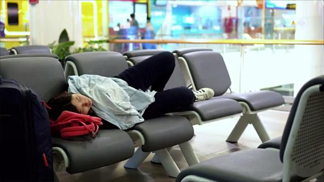 These airport nap pods are like tiny hotel rooms for tired travelers
