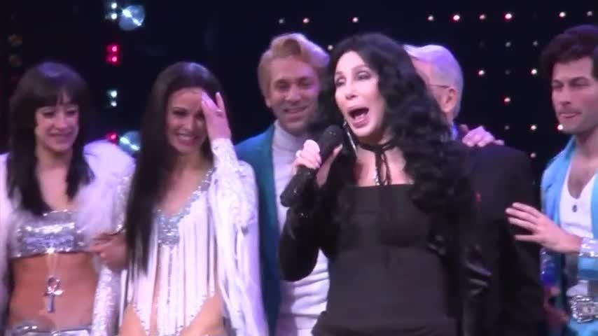 Cher turns back time at Broadway opening