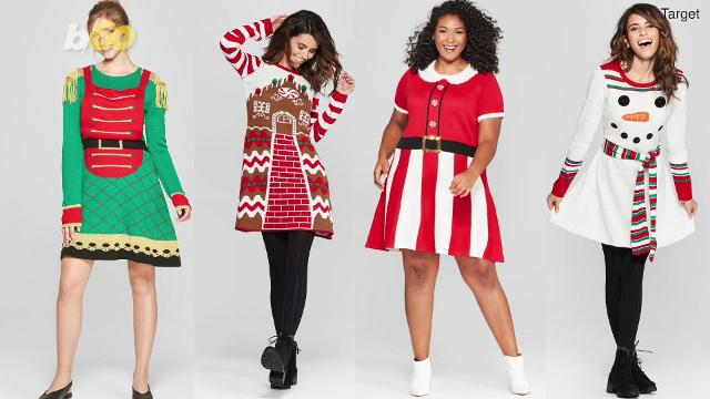 these 'ugly christmas dresses' are perfect for the holidays