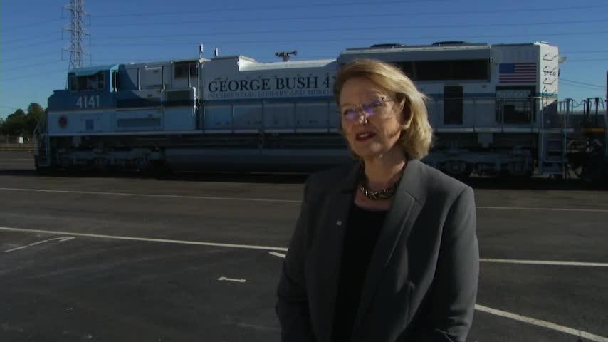 Train ready to transport President George H.W. Bush's casket