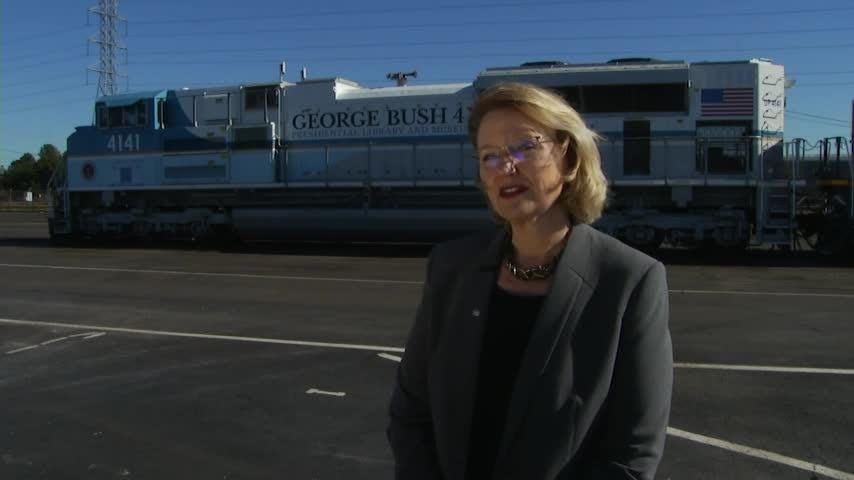 Train Ready To Transport President George H W Bush S Casket