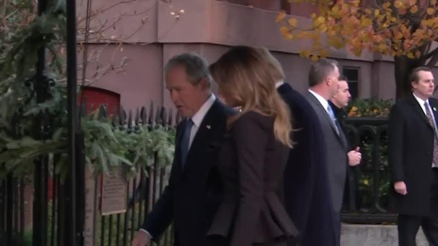 Trumps visit with family of George H.W. Bush