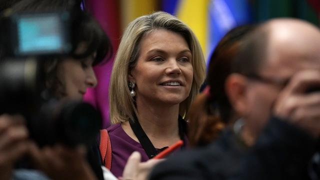 Nauert currently serves as the spokeswoman for the State Department.
