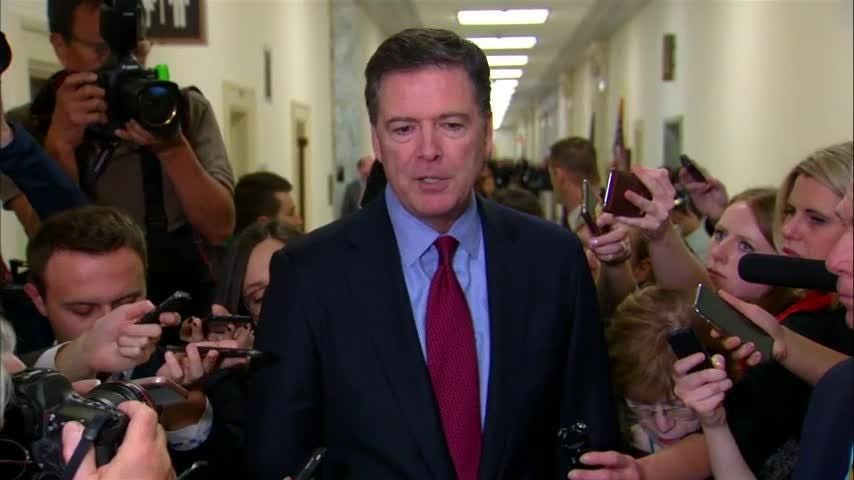 Former FBI Director James Comey says he testified about Hillary Clinton's emails during a closed-door interview Friday with two House committees. (Dec. 7)