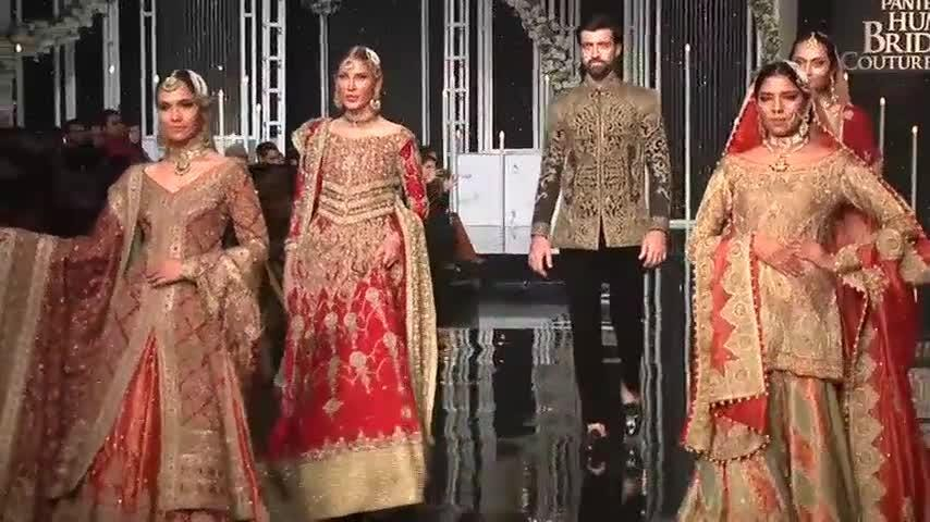 Bridal collections from Nickie Nina and HSY brought a close to Pakistan Fashion Week in Lahore. (Dec. 10)