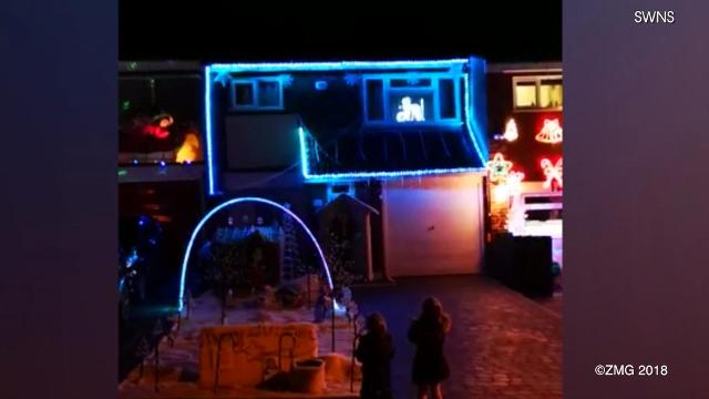 Baby Shark is a viral phenomenon and now it is a part of a Christmas display in the UK. Keri Lumm reports.