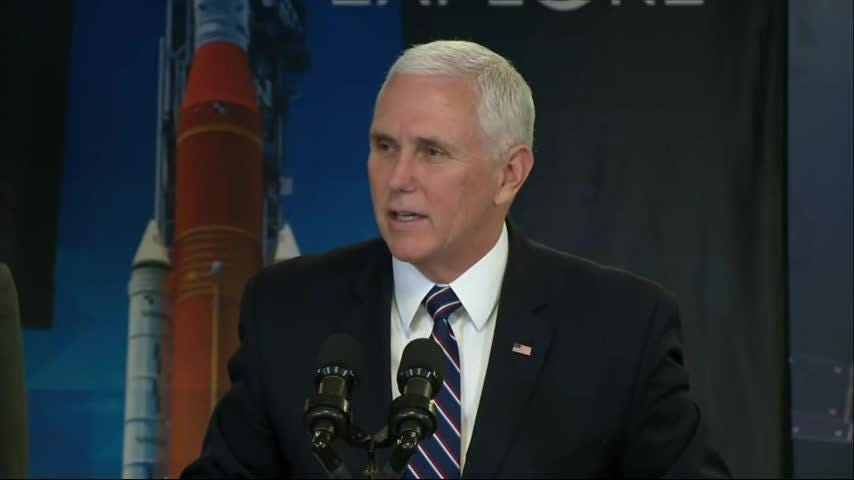 US Vice President Mike Pence visited NASA headquarters and pledged that the Trump administration is supportive of efforts to expand space exploration. Pence reaffirmed plans to send astronaut Nick Hague to the International Space Station in February. (Dec.12)