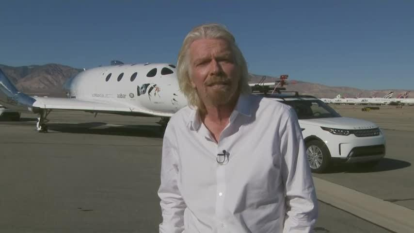 Virgin Galactic's tourism spaceship climbed more than 50 miles high above California's Mojave Desert on Thursday, reaching for the first time what the company considers the boundary of space. (Dec. 13)
