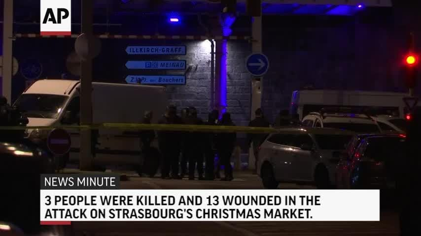 Here's the latest for Friday December 14th: Two Senate resolutions rebuke President Trump and Saudi Arabia; French shooting suspect killed; Georgia police officer dies in shootout; Michelle Obama visits children's hospital near Denver.